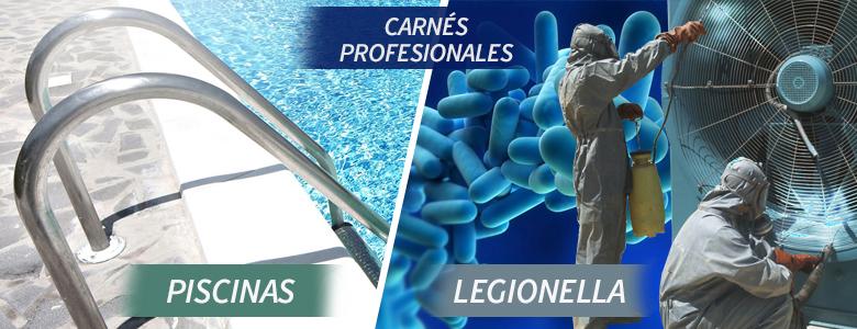 Obtén los carnés profesionales de Piscinas y Legionella