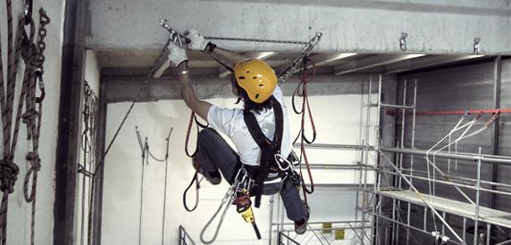 Trabajos verticales sobre cuerdas